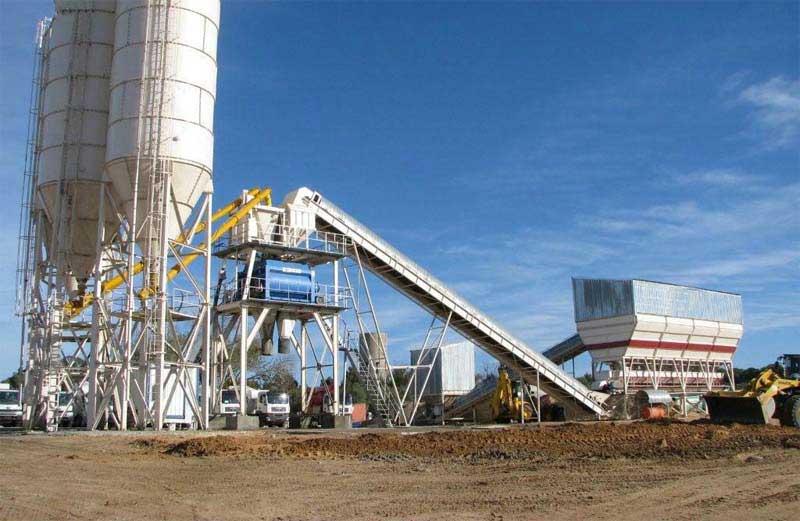 HZS150 concrete mixing plant