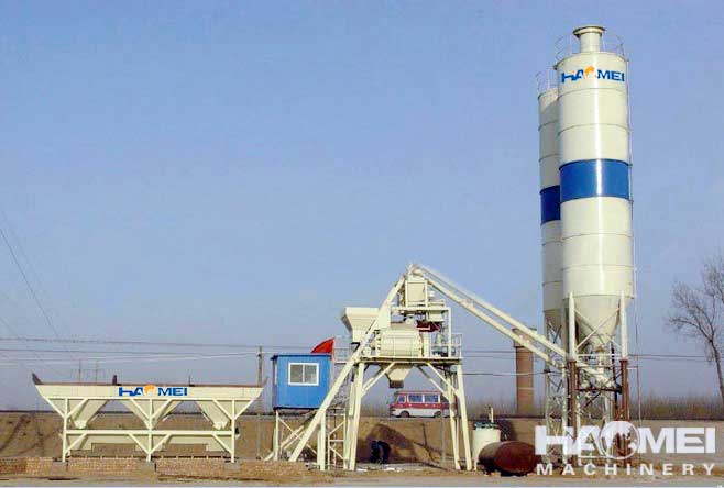 Small Cement Plant : Small concrete batching plant and mixing in