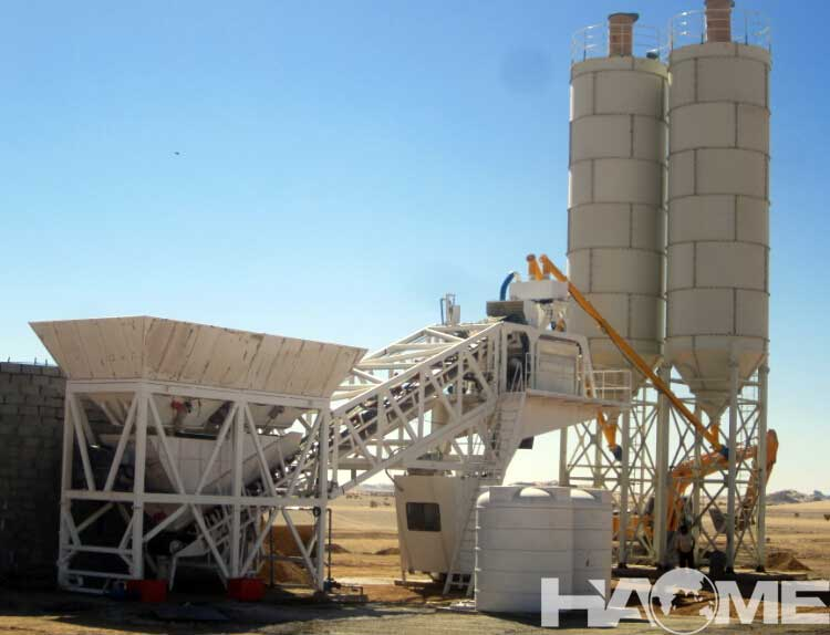 Skip Type Concrete Batching Plant And Concrete Mixing