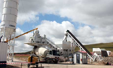 YHZS60 Mobile Concrete Mixing Plant