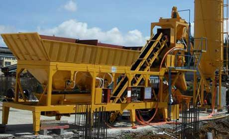 Russia YHZS60 Mobile concrete batching plant