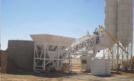 August,2013, we exported the mobile plant to Riyad,Saudi. Nov,2013  Ready-Mixed Concrete Batching Plant