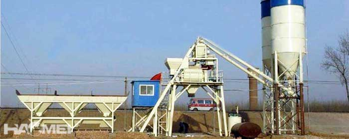 BSmall concrete batching plant